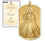 Divine Mercy   Double Sided Dog Tag Religious Medal  EXCLUSIVE