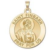 Saint Finbarr Round Religious Medal   EXCLUSIVE