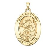 Saint Anthony Oval Religious Medal  EXCLUSIVE