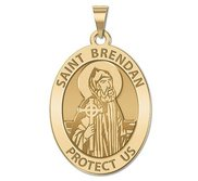 Saint Brendan Religious Oval Medal    EXCLUSIVE