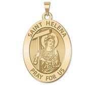 Saint Helena Oval Religious Medal   EXCLUSIVE
