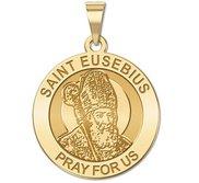 Saint Eusebius Religious Round Medal   EXCLUSIVE