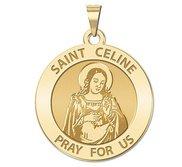 Saint Celine Round Religious Medal    EXCLUSIVE