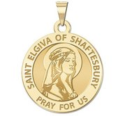 Saint Elgiva of Shaftesbury Round Religious Medal  EXCLUSIVE