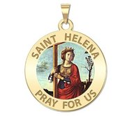 Saint Helena Round Religious Color Medal   EXCLUSIVE
