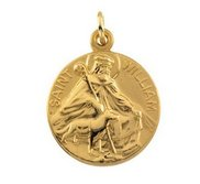 Saint William Religious Medal