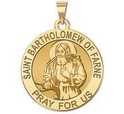 Saint Bartholomew of Farne Round Religious Medal  EXCLUSIVE