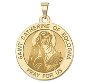 Saint Catherine of Bologna Round Religious Medal    EXCLUSIVE