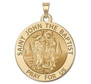 Saint John the Baptist Religious Medal  EXCLUSIVE