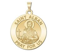 Saint Alban Round Religious Medal  EXCLUSIVE