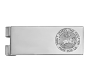 Stainless Steel Engravable Saint James the Greater Money Clip