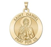 Saint Daniel the Stylite Round Religious Medal  EXCLUSIVE