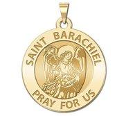 Saint Barachiel Round Religious Medal  EXCLUSIVE