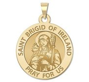 Saint Brigid of Ireland Round Religious Medal    EXCLUSIVE