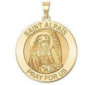 Saint Alpais Round Religious Medal  EXCLUSIVE