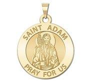Saint Adam Round Religious Medal    EXCLUSIVE