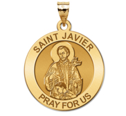 Saint Javier Round Religious Medal  EXCLUSIVE