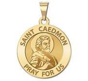Saint Caedmon Round Religious Medal  EXCLUSIVE