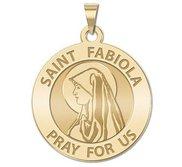 Saint Fabiola Round Religious Medal   EXCLUSIVE