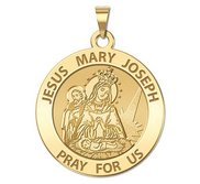 Jesus Mary Joseph Religious Medal  Traditional   EXCLUSIVE