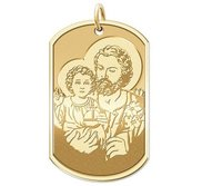 Saint Joseph   Dog Tag Religious Medal  EXCLUSIVE