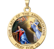 Our Lady of the Annunciation Religious Medal Color   EXCLUSIVE