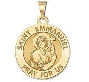 Saint Emmanuel Round Religious Medal   EXCLUSIVE