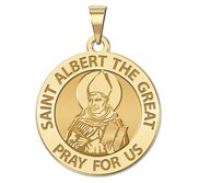 Saint Albert the Great Round Religious Medal  EXCLUSIVE