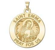 Saint Emma Round Religious Medal   EXCLUSIVE