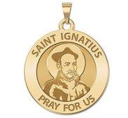 Saint Ignatius of Loyola Round Religious Medal   EXCLUSIVE