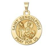 Saint Gengulphus Round Religious Medal  EXCLUSIVE