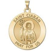 Saint Ciaran Round Religious Medal    EXCLUSIVE