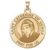 Saint Catherine of Genoa Round Religious Medal    EXCLUSIVE