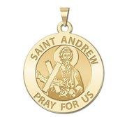 Saint Andrew Round Religious Medal  EXCLUSIVE