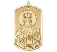 Saint Nicholas   Dog Tag Religious Medal  EXCLUSIVE