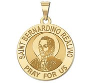Saint Bernardino Realino  Younger Version  Round Religious Medal  EXCLUSIVE