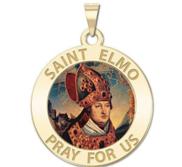 Saint Elmo Round Religious Medal  EXCLUSIVE
