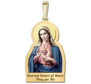 Sacred Heart Or Immaculate Heart of Mary Outlined Religious Medal