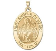 Saint Angela di Merici Oval Religious Medal  EXCLUSIVE