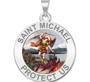 Saint Michael Religious Medal   Color EXCLUSIVE