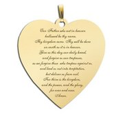 Lord s Prayer  Heart Script Pendant