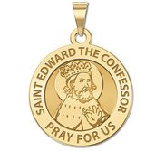 Saint Edward the Confessor Round Religious Medal  EXCLUSIVE