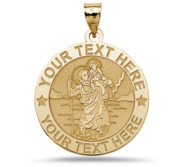 Build Your Own Saint Christopher Round Medal