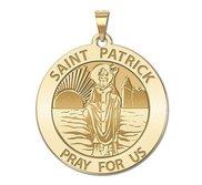 Saint Patrick Round Religious Medal  EXCLUSIVE