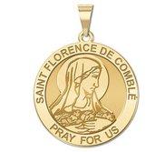 Saint Florence De Comble Round Religious Medal   EXCLUSIVE