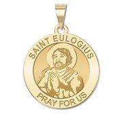 Saint Eulogius of Cordoba Round Religious Medal   EXCLUSIVE