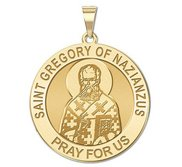 Saint Gregory of Nazianzus Round Religious Medal  EXCLUSIVE