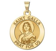 Saint Galla Round Religious Medal    EXCLUSIVE