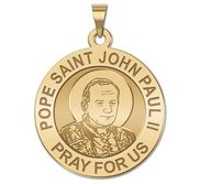 Pope Saint John Paul II  Younger Version  Religious Medal  EXCLUSIVE