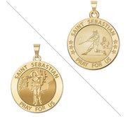 Baseball   Saint Sebastian Doubledside Sports Religious Medal  EXCLUSIVE
